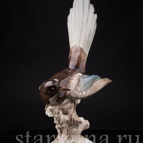 Фарфорвая статуэтка птицы Сорока, Hutschenreuther, Германия, 1955-69 гг.