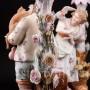 Старинная фарфоровая композиция Пара с подсвечниками, Volkstedt, Германия, кон. 19 в.