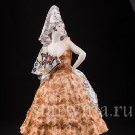 Фаянсовая статуэтка Испанская танцовщица, Goldscheider, Австрия, 1900 гг.