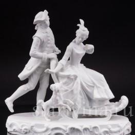Бисквитная композиция Катание на санках, Германия,, кон 19 - нач 20 вв.